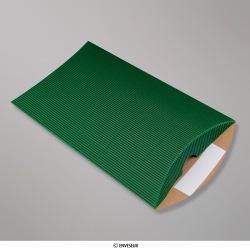 229x162+30 mm (DL) Sýta zelená vlnitá krabica v tvare vankúša