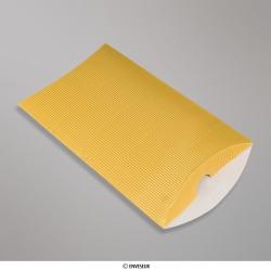 229x162+30 mm (C5) Boîte en carton striée dorée, Dorée, Non gommé