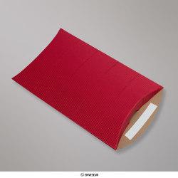 229x162+30 mm (C5) Boîte en carton striée rouge, Rouge, Auto-adhésive avec Bande Détachable