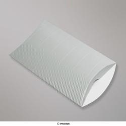 229x162+30 mm (C5) Boîte en carton striée argent, Argentée, Auto-adhésive avec Bande Détachable