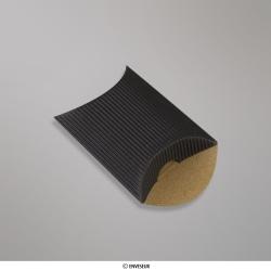 60x75+30 mm Caixa almofada com ondulação - preto