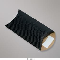 113x81+30 mm (C7) Boîte en carton striée noire, Noir, Non gommé