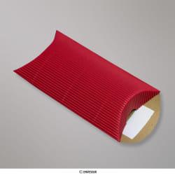 113x81+30 mm (C7) Boîte en carton striée rouge, Rouge, Auto-adhésive avec Bande Détachable
