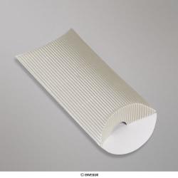 113x81+30 mm (C7) caixa almofada com Ondulação - prata
