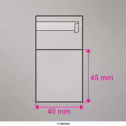 45x40 mm bolsa celofane clara