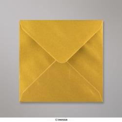 130x130 mm envelope metálico - oro