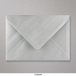 125x175 mm Enveloppe Argent Métalisée, Argent Métallisée, Gommée