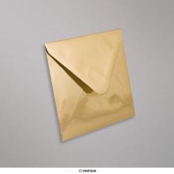 130x130 mm Goudkleurige enveloppen met glanzende afwerking