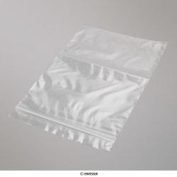 190x125 mm Transparente Druckverschlussbeutel, Klar, Wiederverschließbar