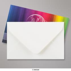 62x94 mm Enveloppe Blanche Vergée, Blanc, Gommée