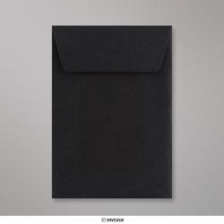 162x114 mm (C6) Enveloppe toute Noir dos cartonné, Noir, Auto-adhésive avec Bande Détachable