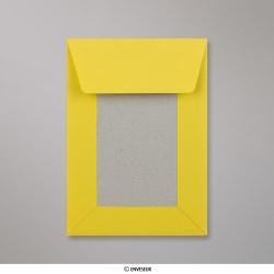 162x114 mm (C6) Gelb Papprückwand-Umschlag, Dunkelgelb, Haftklebend