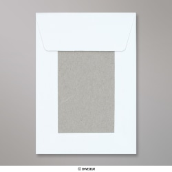 162x114 mm (C6) Envelope Branco com Cartolina ao Dorso