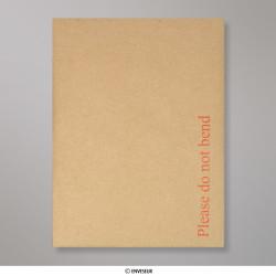 190x140 mm Braun Papprückwand-Umschlag, Manila, Haftklebend