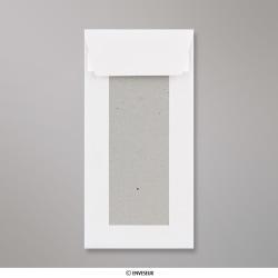 220x110 mm (DL) Weiß Papprückwand-Umschlag, Weiß, Haftklebend