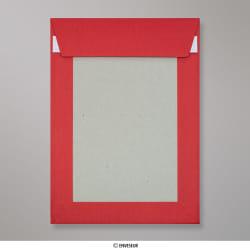 229x162 mm (C5) Dunkel Roter Papprückwand Umschlag, Dunkelrot, Haftklebend