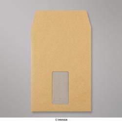 229x162 mm (C5) Enveloppe à dos cartonné manille avec fenêtre, Manille, Auto-adhésive avec Bande Détachable