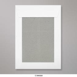 229x162 mm (C5) Busta con dorso rigido bianca, Bianco, Con strip adesivo