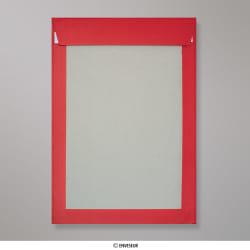 324x229 mm (C4) Envelope escuro de volta placa vermelha