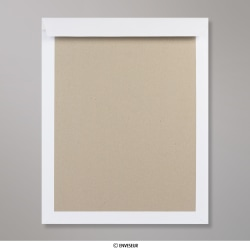 394x318 mm Envelope Branco com Cartolina ao Dorso