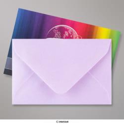 62x94 mm Lila glanzende envelop