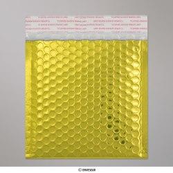 165x140 mm Goldene Glänzende Metalische Luftpolster - Versandtasche, Gold, Haftklebend - Verschluss
