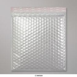 230x230 mm Sachet à bulles argenté métalliques gloss, Argenté, Auto-adhésive avec Bande Détachable