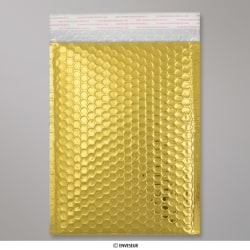 250x180 mm Sachet à bulles doré métalliques gloss, Doré, Auto-adhésive avec Bande Détachable