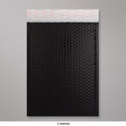 324x230 mm (C4) Busta a bolle d'aria con finitura metallica brillante in nero, Nero, Con strip adesivo