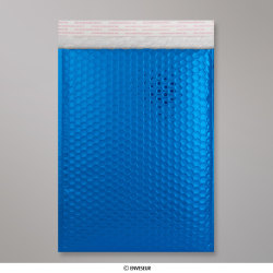 324x230 mm (C4) Blaue Glänzende Metalische Luftpolster - Versandtasche, Blau, Haftklebend