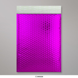 324x230 mm (C4) Lila Glänzende Metalische Luftpolster - Versandtasche, Violett, Haftklebend