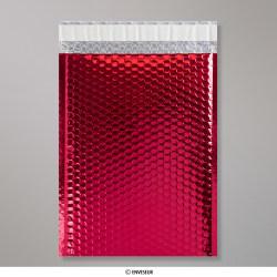 324x230 mm (C4) Bolsa com Bolhas Metálica - Vermelho