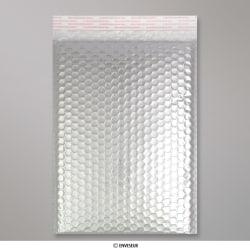 324x230 mm (C4) Silbere Glänzende Metalische Luftpolster - Versandtasche, Silber, Haftklebend