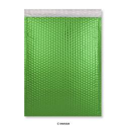 Verde Bolsa Acolchadas Con Burbujas METÁLICO de 450x320 mm (C3), Verde, Autoadhesivo