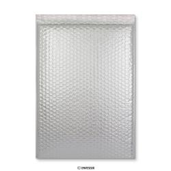 450x320 mm (C3) Silbere Glänzende Metalische Luftpolster - Versandtasche, Silber, Haftklebend - Verschluss