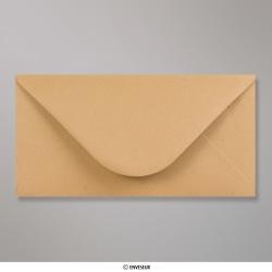 110x220 mm (DL) Gerippt Manila Briefumschlag, Manila, Nassklebend