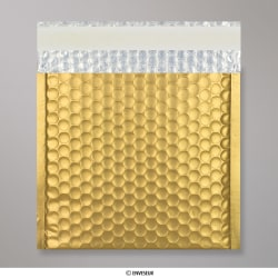 165x165 mm Gold Metallic Matt Bubble Bag