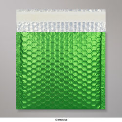165x165 mm Green Metallic Matt Bubble Bag