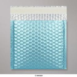 165x165 mm Blauw Metalen Mat Bubbel Tasje