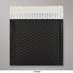 230x230 mm Black Metallic Matt Bubble Bag
