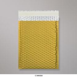 250x180 mm Gold Metallic Matt Bubble Bag