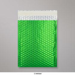 250x180 mm Green Metallic Matt Bubble Bag