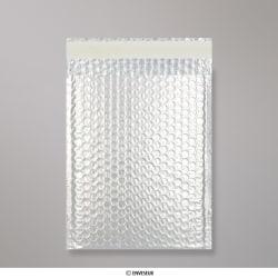 250x180 mm Silver Metallic Matt Bubble Bag