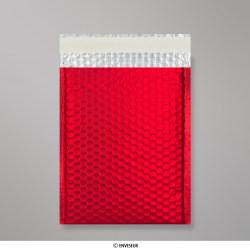 324x230 mm (C4) Matte Metálicos Sacos da Bolha - Vermelho