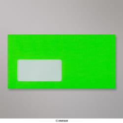 110x220 mm (DL) Neon Groen Envelop met Venster