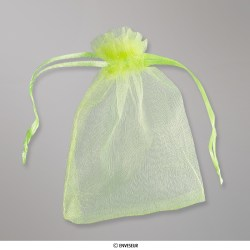 90x70 mm Apple Green Organza Bag