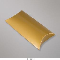 229x162+35 mm (C5) Boîte étui cartonnée dorée, Dorée, Auto-adhésive avec Bande Détachable