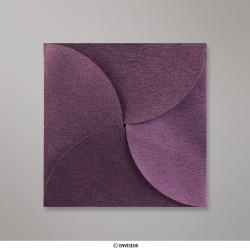 145x145 mm Pouchette Amarente, Amarante brocade, Non gommé