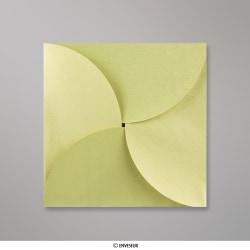 145x145 mm Speciaal gevouwen envelop, boongroen