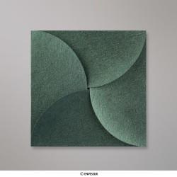 145x145 mm Speciaal gevouwen envelop, bosgroen